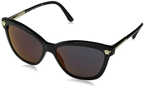 Versace Damen 0VE4313 GB1/W6 57 Sonnenbrille, Schwarz (Black/Darkgreymirrorred)