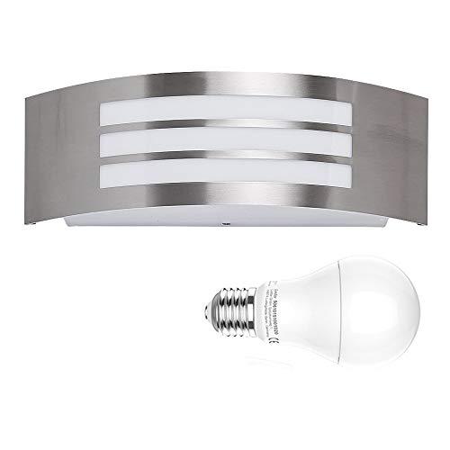 LED-Wandleuchte, Yurnero 9W IP44 Moderne Innen- oder Außenwandleuchte Wandleuchten Nachtlampe für Wohnzimmer, Schlafzimmer, Halle, Treppenhaus, Weg - mit einer wärmeren weißen Birne