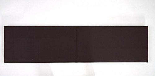 Wandkissen L Breite 115cm Kunstleder mit Montage-Set verschiedene Farben, Farbe:braun