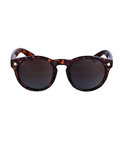 TOSH Große Sonnenbrille mit runden Gläsern in Schildpatt-Optik, Wayfarer Style in verschiedenen Brauntönen (477-287)
