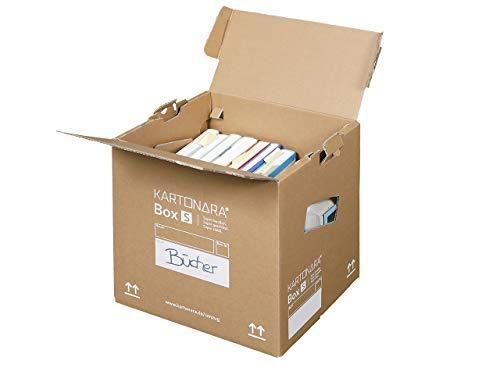 10 Stück Profi Bücherkartons KARTONARA Box S | stabile Umzugskartons für Bücher