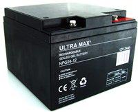 2 x AGM 26Ah (wie 24Ah & 25Ah) - Stolz, SHOPRIDER, Rollator, FREERIDER Batterien -