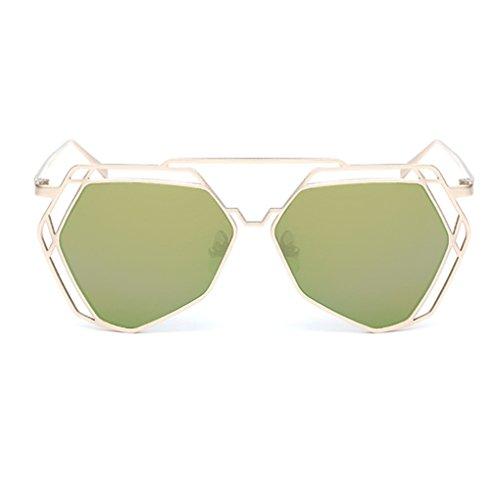 Minzhi Frauen Art und Weise aush?hlen-Out Metallrahmen Summer Travel fahren Sonnenbrille