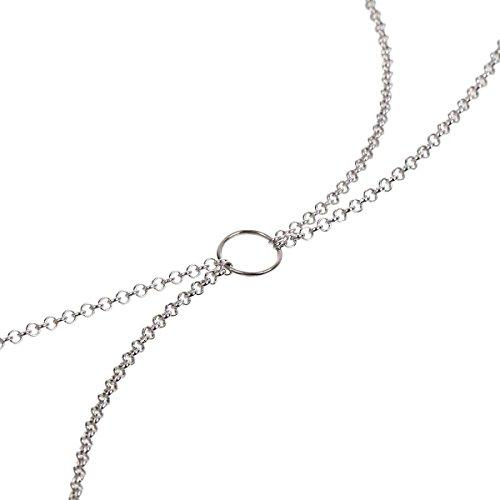 Körperkette \'SERPENTIS\' 80004 Body Chain SM Gothic Ring der O Kette Fetisch O-Ring BDSM Sklave Fetish Meister Sub Dom Bauchkette