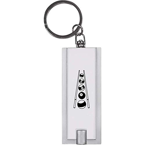 Azeeda \'Billardkugeln und Queue\' Schlüsselanhänger LED Taschenlampe (KT00008428)