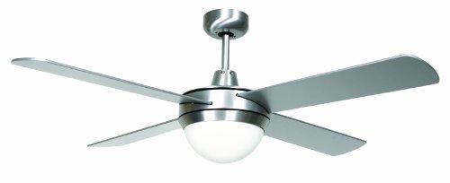LUCCI AIR, Ventilatore da soffitto/lampadario Futura Eco radiocomandato con 4 ali
