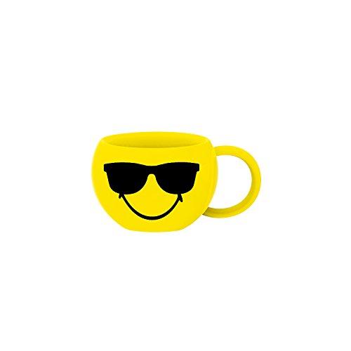 Zak Designs 6727-013PK Smiley Cool Set de 6 Tasses à Espresso Jaune