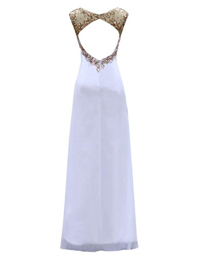 Dresstells, Robe de soirée Robe de cérémonie Robe de gala longue avec paillettes col rond dos nu sans manches Corail