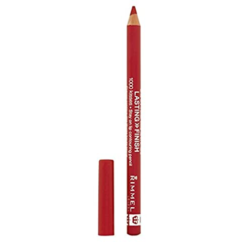 RIMMEL LONDON Lasting Finish 1000 Kisses Stay On Lip Liner Pencil Red Dynamite