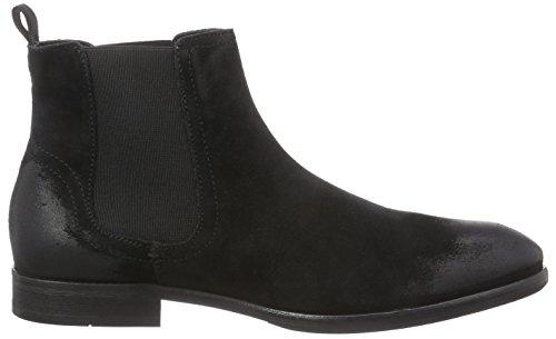 Hudson London ENTWHISTLE Herren Chelsea Boots Schwarz (Black)