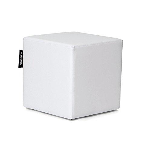 MiPuf - Puff Cube Original Tamaño 40x40x40 - Polipiel - Color Blanco