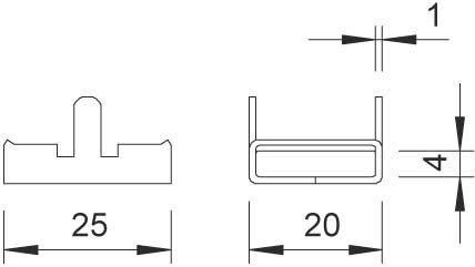 BETTERMANN Montageband Verschluss, 20mm, ST 192