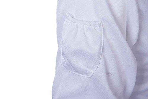 Geval Herren Outdoor UV-Sonnenschutz Schnelltrocknende Fischen-Hemden Shirts Mit Kapuze Weiß