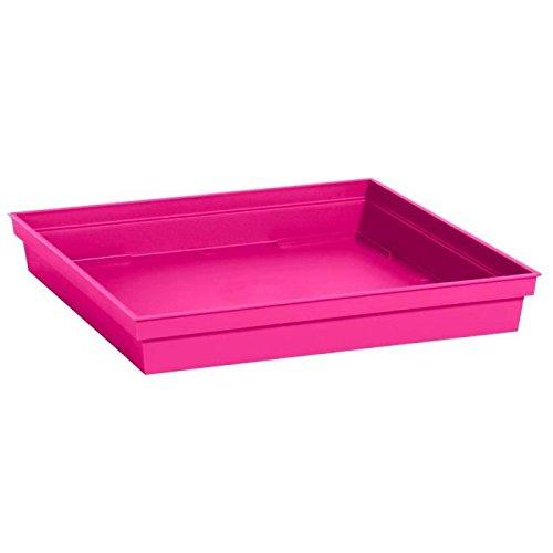 EDA Plastiques Soucoupe TOSCANE carré pour Pot 13644 RO.FU SX6 Fuchsia 26,7 x 26,7 x 3,8 cm