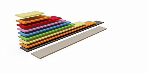 Tosend Servizi sas Wandregal für Kinderzimmer cm 60verschiedenen Farben Regalhalterung ausgeschlossen cm H2,5 L26 P60 Weiß matt