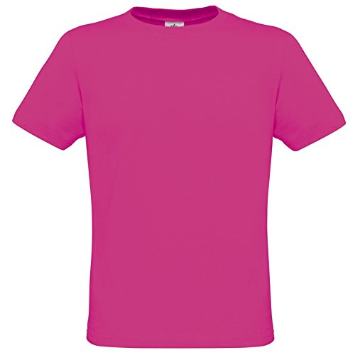 B&C Collection Herren Modern T-Shirt Ultrapink
