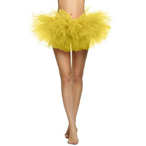 Malloom® Hübsches Mädchen Elastic Stretchy Tüll Kleid Erwachsenen Tutu 5 Schicht Rock ()