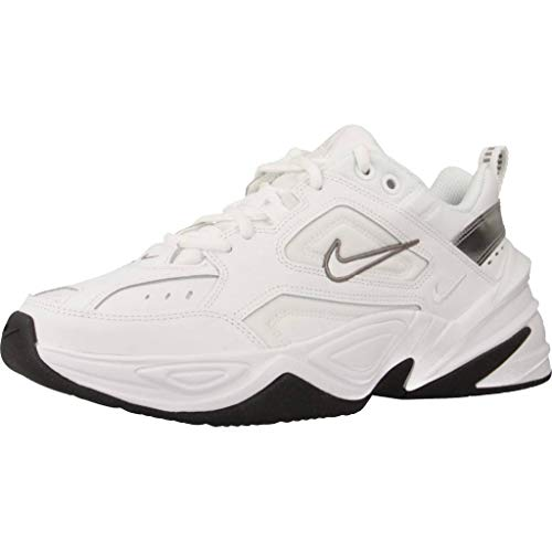 Nike Damen W M2k Tekno Leichtathletikschuhe, Mehrfarbig White/Cool Grey/Black 000, 39 EU