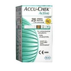Accu-chek active strisce reattive per le misurazione della glicemia, 25 pezzi