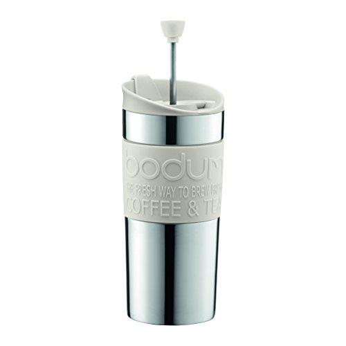Bodum - Caffettiera a filtro Travel Press, 0,35 l, colore: Crema