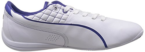 Puma Mercedes AMG Petronas Leather, Low-Top Sneaker Unisex – adulto Bianco (Weiß (White/white/blue))