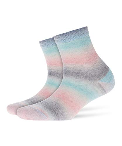 Burlington Damen Socken Ladywell Blickdicht, Mehrfarbig (China Blue 6017) 36/41 (One Size)