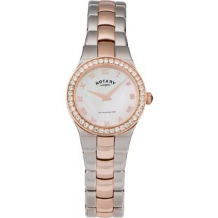 Rotary Ladies' Rose Gold and Stainless Steel Bracelet Watch (991573633) Best Price and Cheapest