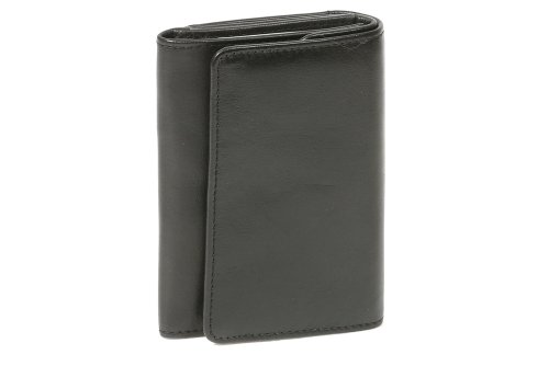 LEAS Opabörse mit großer Kleingeldschütte Echt-Leder, schwarz Special Edition (Visa-geburtstag-geschenk-karte)