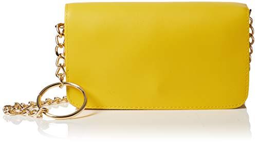New Look Circle Chain Detail, Sacs bandoulière femme, Jaune