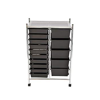 Oypla 15 Drawer Storage Mobile Makeup Salon Trolley Portable Storage Organiser