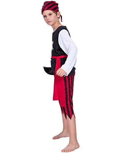 GHF Boy Rollenspiele, Halloween Schädel Piraten Junge Kostüm, Geeignet Für ()