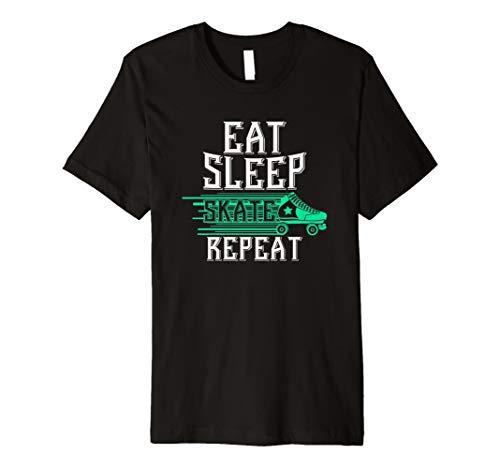 (Eat Sleep Skate Repeat: Roller Skating Roller Skaters Shirt)