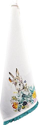 Unbekannt 'Oster - Serviette Happy Easter avec motif lapins/Service de table/service de table de cuisine Chiffon Sec/de chiffon/Pâques/décoratives de Pâques/Cadeau de Pâques