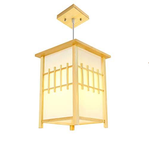 BXX Pinie Holz Schaffell Kronleuchter im japanischen Stil, Klassische Klassische minimalistische Zimmer Log Schlafzimmer Kronleuchter,Warmes Licht,Einheitsgröße