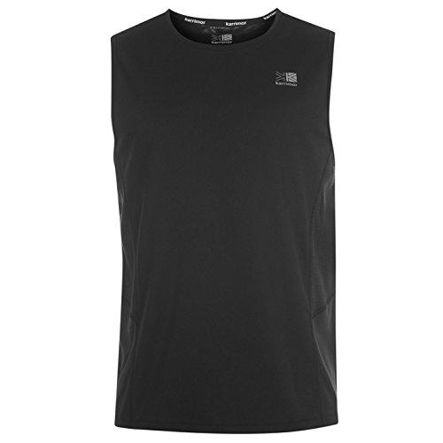 Karrimor para hombre sin mangas T-camiseta de manga corta de costura para chalecos de malla transpirable en la parte superior y camiseta para
