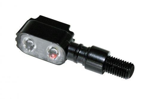SHIN yO éclairage lED moto clignotant unité mX - 1, noir, en métal et verre transparent h.17 x t.20 x 30 mm, pa