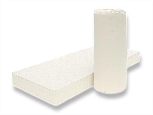 POLY Orthopädische Matratze mit Klimafaser-Bezug für jede Jahreszeit geeignet Markenware BRECKLE - Grösse 90x190