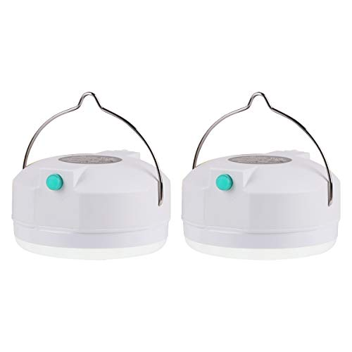 Hootracker LED Campinglampe mit USB Power-Bank Akku-Pack Outdoor Campinglaterne Taschenlampe Camping Lampe; Wieder-aufladbar; superhell; 2000mAh(2pack)
