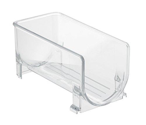 InterDesign Fridge/Freeze Binz Weinregal für 1 Flasche, stapelbarer Flaschenhalter aus Kunststoff, durchsichtig - Kühlschrank Binz
