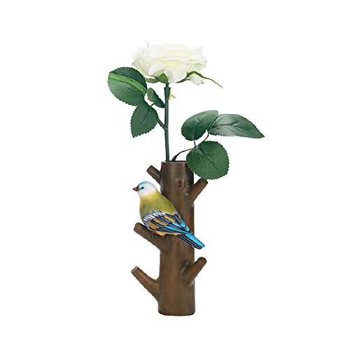 Coat Rack_Wall-Mounted Decoration Mit 4 Haken Flower Inserter Kleiderbügel Schlüsselhalter Foyer, Wohnzimmer, Esszimmer Tree Storage Organizer Colored Bird (Coat-rack Storage)