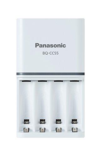 Panasonic Battery Eneloop BQ-CC55N Advanced Battery Charger for AA AAA Ni-MH Battery (White)