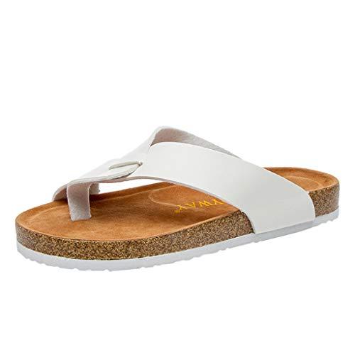 Innerternet Retro Demen Zehentrenner Kork Hausschuhe Wohnungen Strand Anti-Slip Schuhpfosten Hausschuhe Erwachsene Gizeh Sandalen