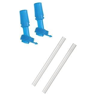 Camelbak eddy Kids Bottle Accessory 2 Bite Valves/2 Straws, Ice Blue