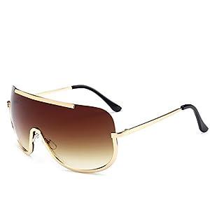 Battnot Sonnenbrille für Damen Herren, Spiegel Objektiv Unisex Vintage Mode Quadratischer Rahmen UV Gläser Sonnenbrillen…
