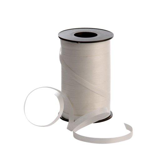 Polyband matt weiß 7,5 mm breit / 180 Meter