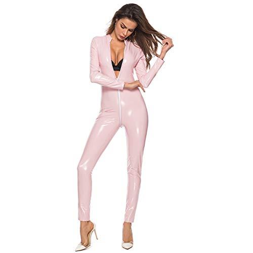 SUMTTER Frauen Dessous Plus Size Leder Sexy Body Siamese Sexy Unterwäsche Nachtwäsche SchnüRen Set Dessous Set Schlafanzug