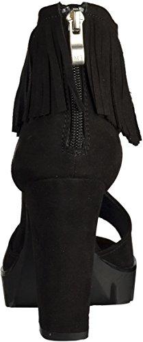 Marco Tozzi 28712, Sandales ouvertes femme Noir