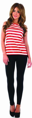 White Striped Top (Wo Ist Wally Kostüm Frauen)