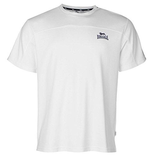 Lonsdale 2logo t-shirt da uomo bianco/navy top maglietta, White / Navy, L