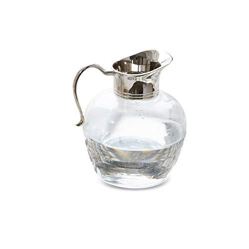Loberon Krug Juignettes, Glas/Messing, H/Ø ca. 17/15 cm, klar